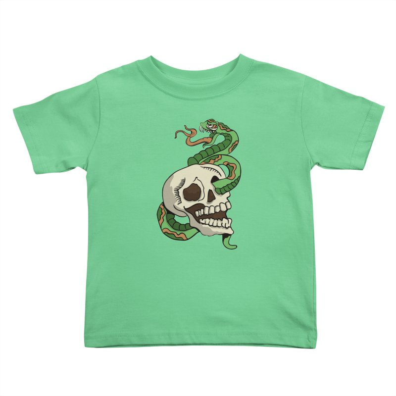 Snake 'n' Skull Kids Toddler T-Shirt by TenAnchors's Artist Shop