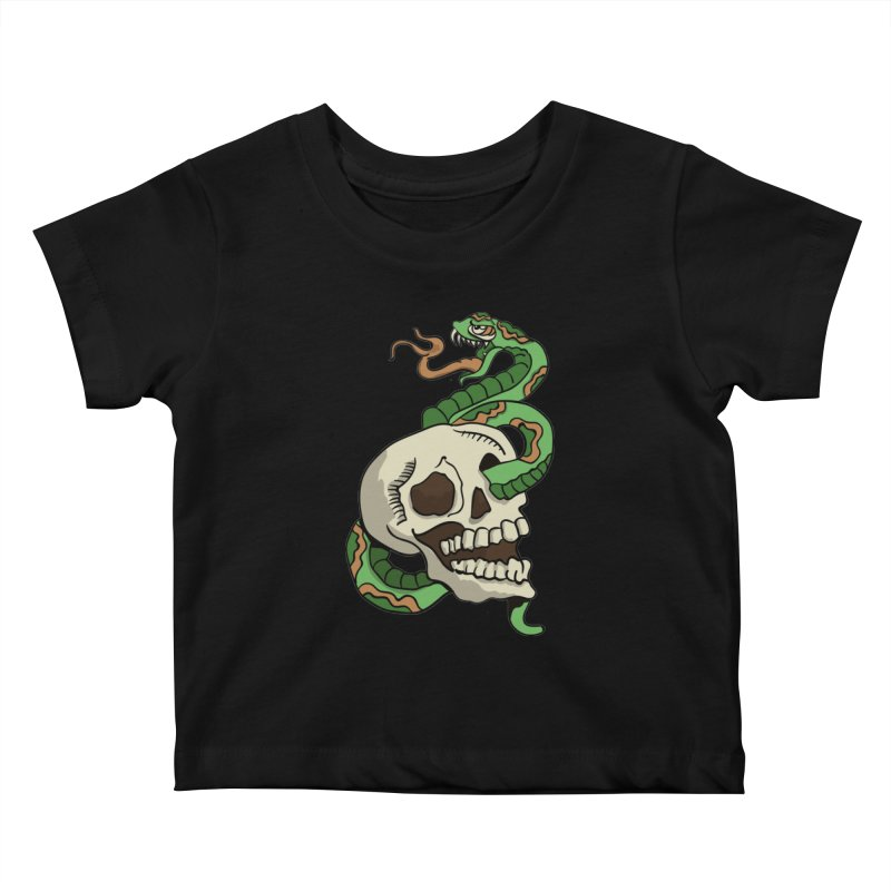 Snake 'n' Skull Kids Baby T-Shirt by TenAnchors's Artist Shop