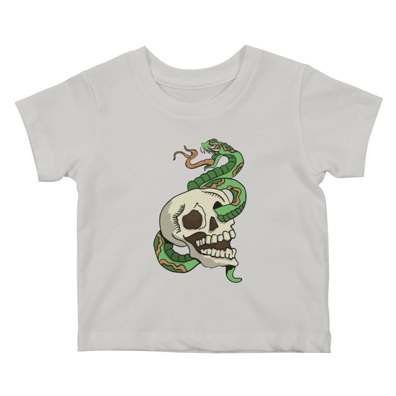 Snake 'n' Skull Kids Baby T-Shirt by TenAnchors's Artist Shop