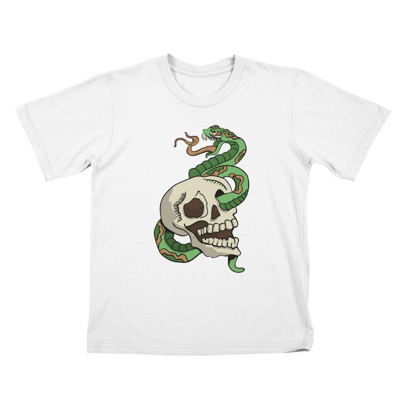 Snake 'n' Skull Kids T-shirt by TenAnchors's Artist Shop