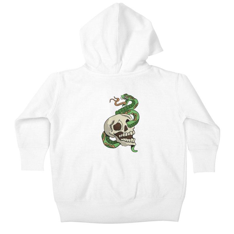 Snake 'n' Skull Kids Baby Zip-Up Hoody by TenAnchors's Artist Shop