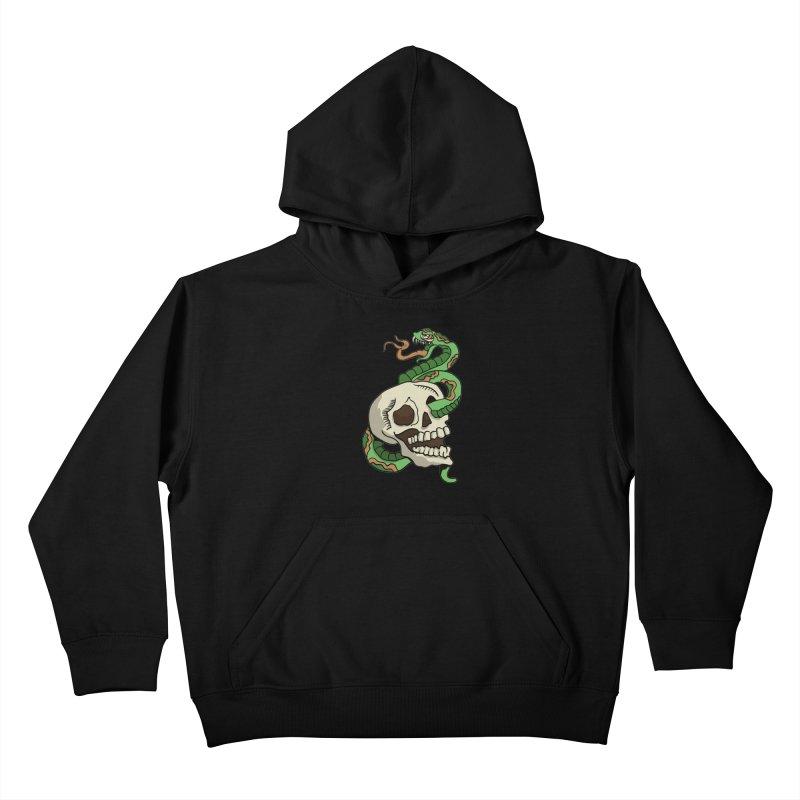 Snake 'n' Skull Kids Pullover Hoody by TenAnchors's Artist Shop