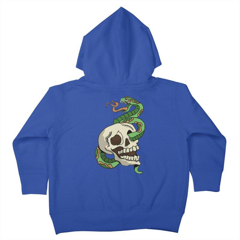 Snake 'n' Skull Kids Toddler Zip-Up Hoody by TenAnchors's Artist Shop