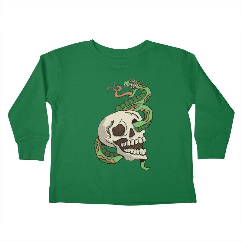 Snake 'n' Skull Kids Toddler Longsleeve T-Shirt by TenAnchors's Artist Shop