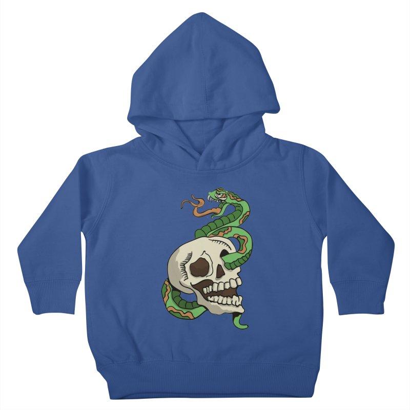 Snake 'n' Skull Kids Toddler Pullover Hoody by TenAnchors's Artist Shop