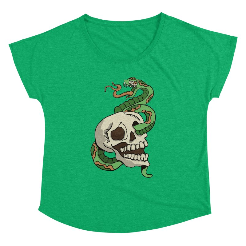 Snake 'n' Skull Women's Dolman by TenAnchors's Artist Shop