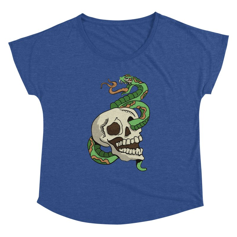 Snake 'n' Skull Women's Dolman by TenAnchors's Artist Shop