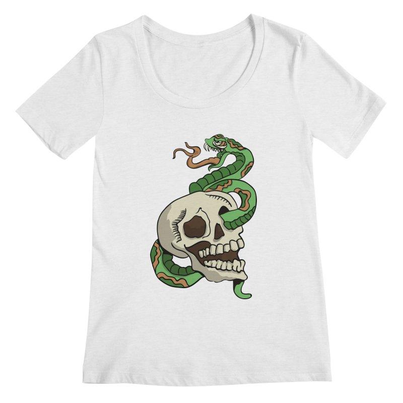 Snake 'n' Skull Women's Scoopneck by TenAnchors's Artist Shop