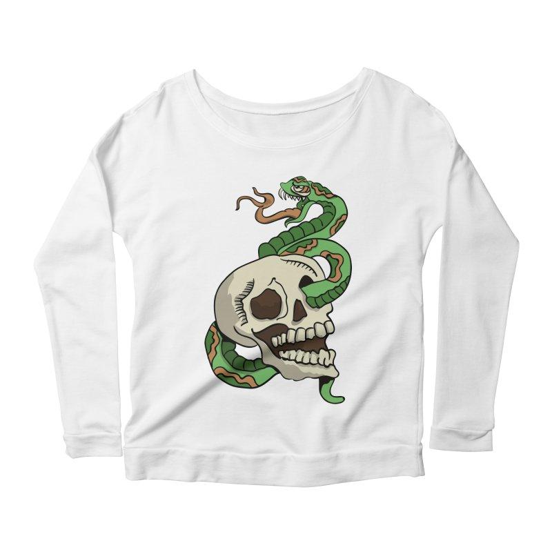 Snake 'n' Skull Women's Longsleeve Scoopneck  by TenAnchors's Artist Shop