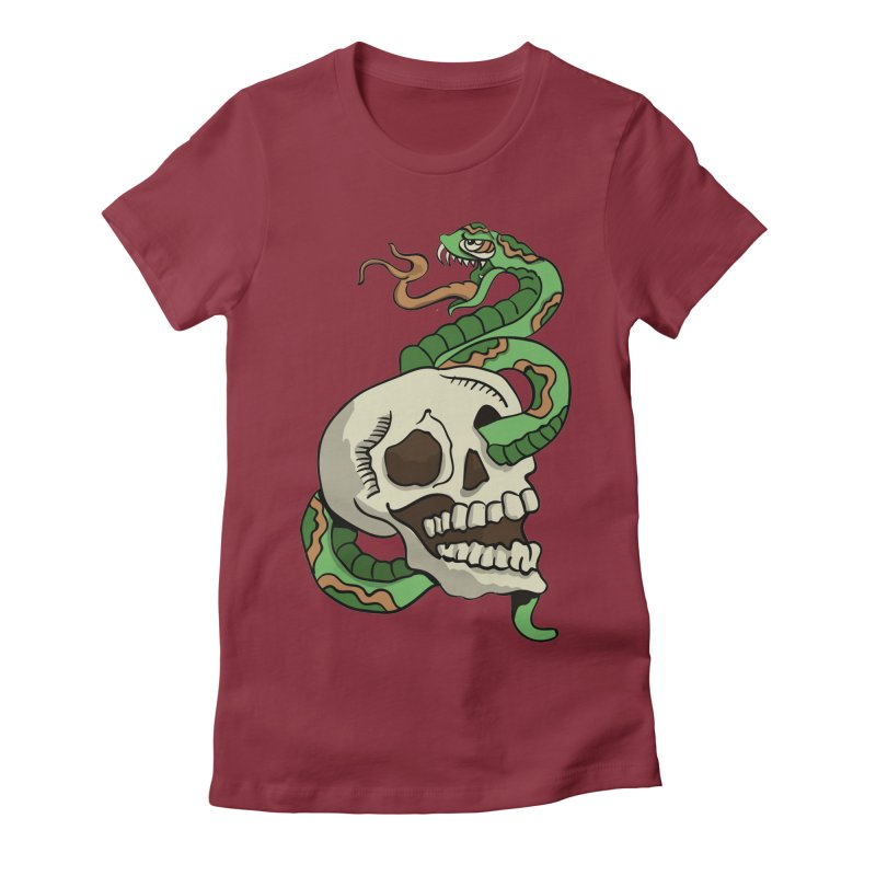 Snake 'n' Skull Women's Fitted T-Shirt by TenAnchors's Artist Shop