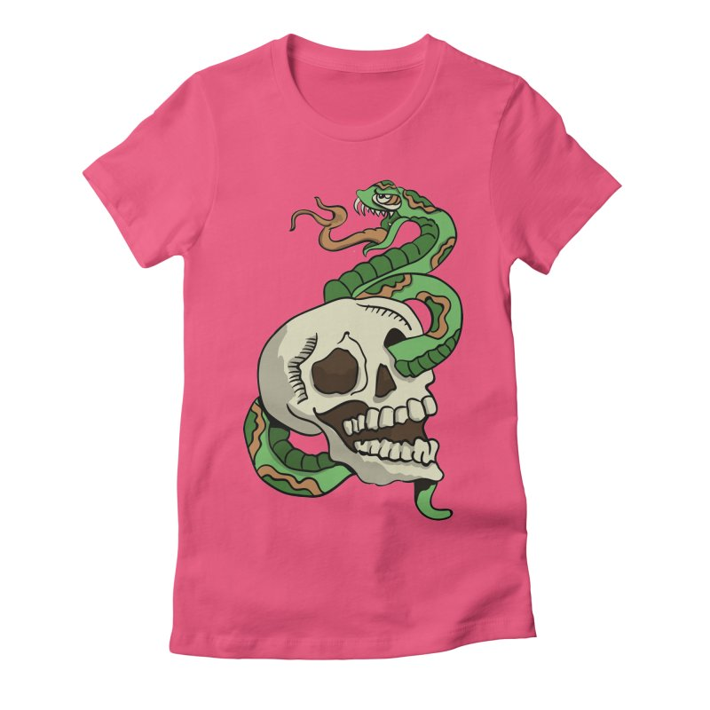 Snake 'n' Skull Women's Fitted T-Shirt by TenAnchors's Artist Shop