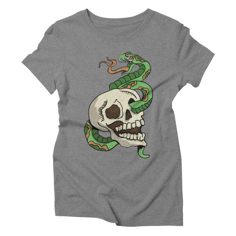 Snake 'n' Skull Women's Triblend T-Shirt by TenAnchors's Artist Shop
