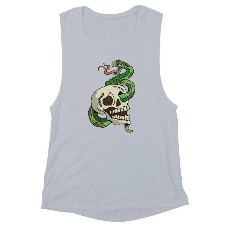 Snake 'n' Skull Women's Muscle Tank by TenAnchors's Artist Shop