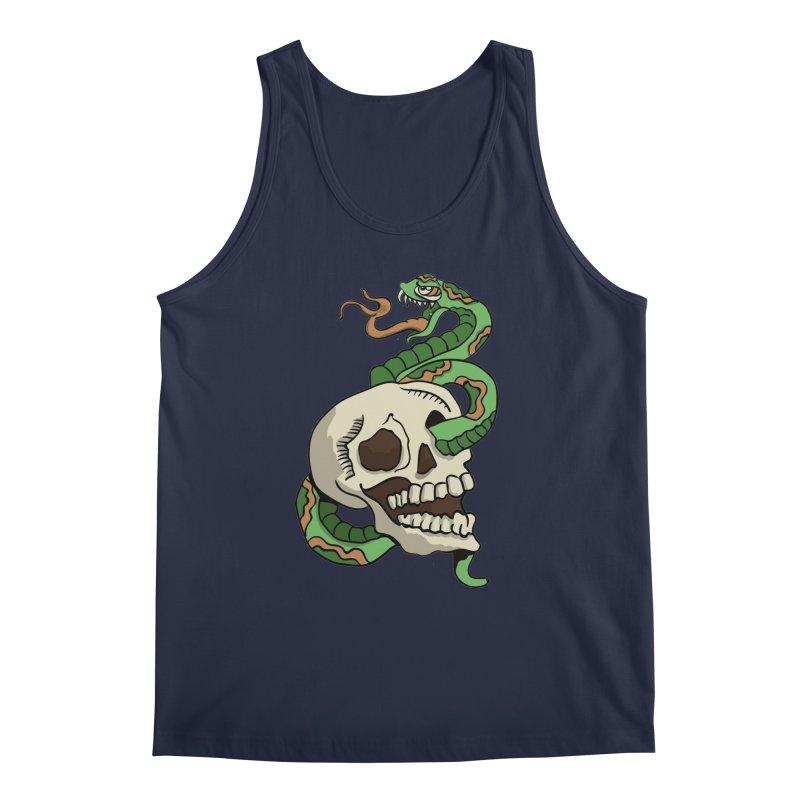 Snake 'n' Skull Men's Tank by TenAnchors's Artist Shop