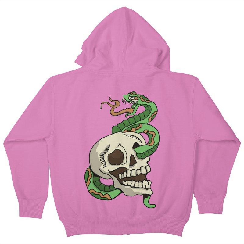 Snake 'n' Skull Kids Zip-Up Hoody by TenAnchors's Artist Shop
