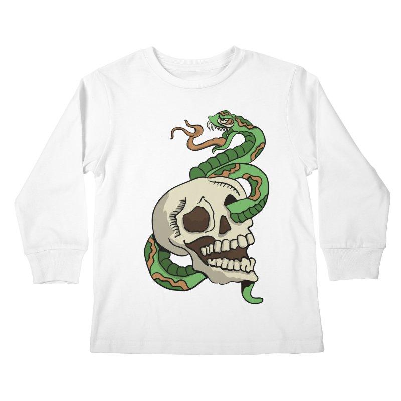 Snake 'n' Skull Kids Longsleeve T-Shirt by TenAnchors's Artist Shop