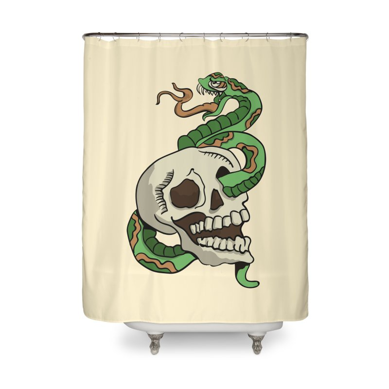 Snake 'n' Skull Home Shower Curtain by TenAnchors's Artist Shop