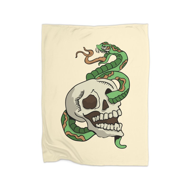 Snake 'n' Skull Home Blanket by TenAnchors's Artist Shop