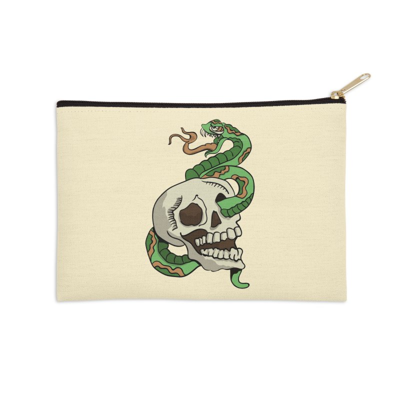 Snake 'n' Skull Accessories Zip Pouch by TenAnchors's Artist Shop