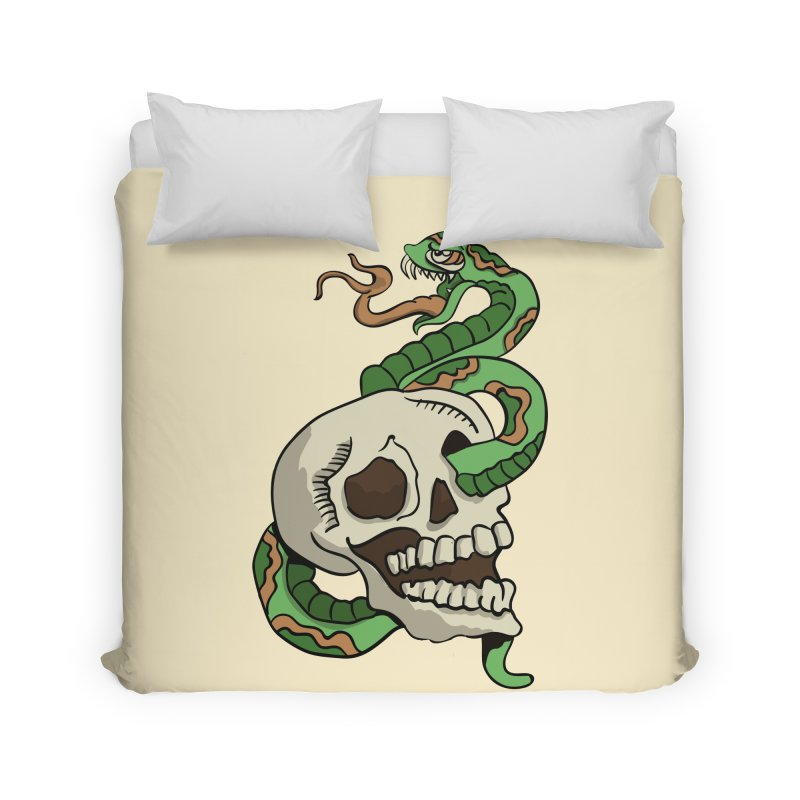 Snake 'n' Skull Home Duvet by TenAnchors's Artist Shop