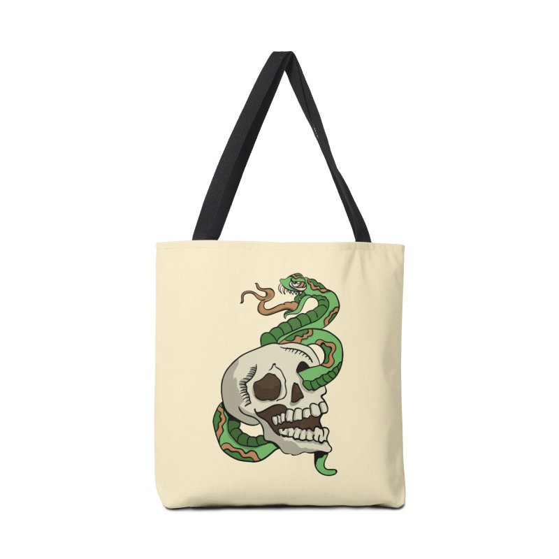 Snake 'n' Skull Accessories Bag by TenAnchors's Artist Shop