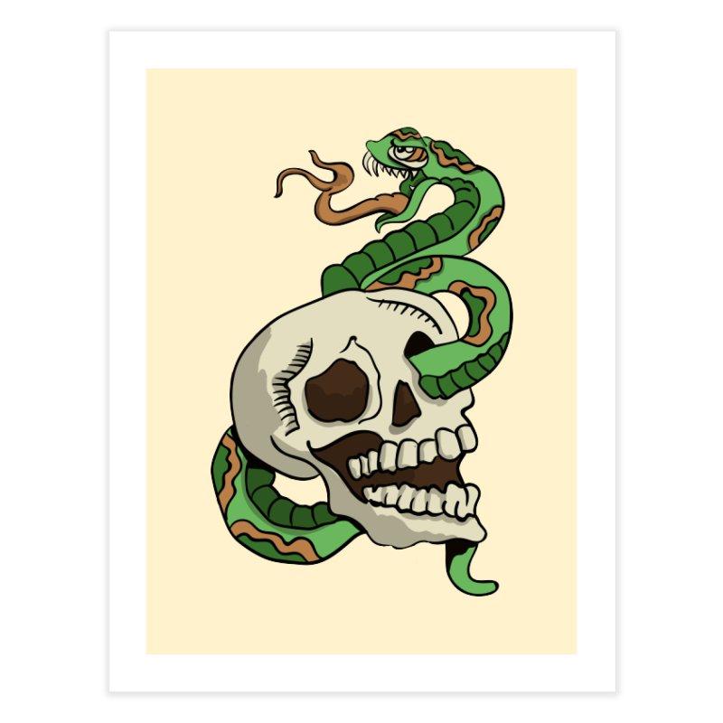 Snake 'n' Skull Home Fine Art Print by TenAnchors's Artist Shop