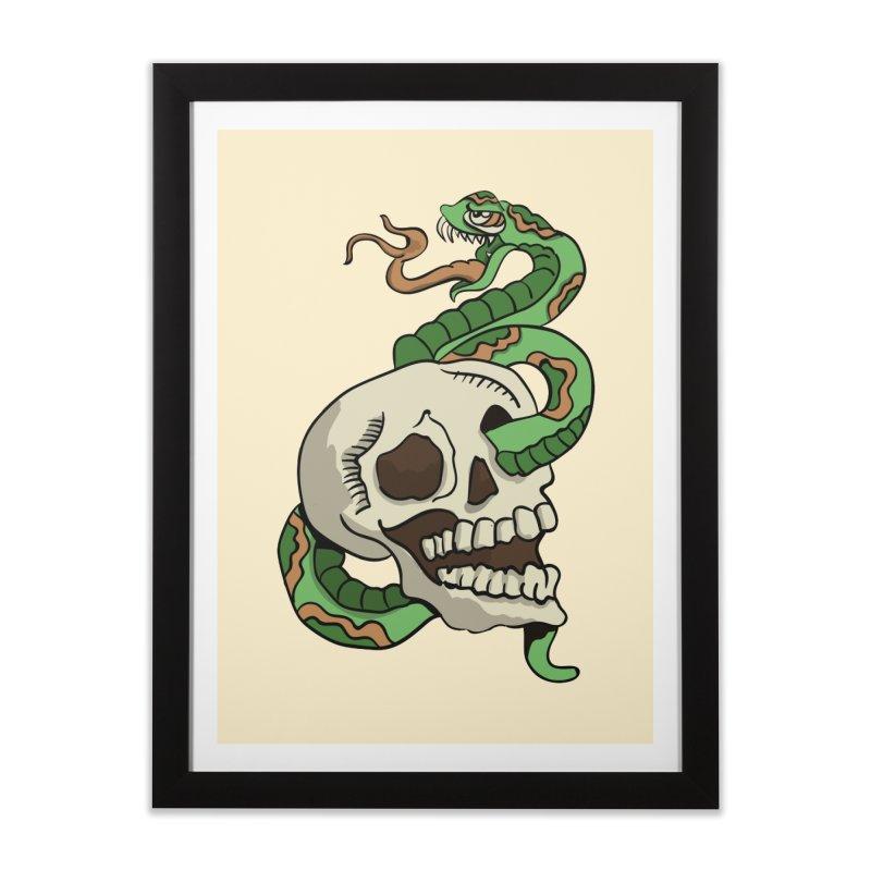 Snake 'n' Skull Home Framed Fine Art Print by TenAnchors's Artist Shop
