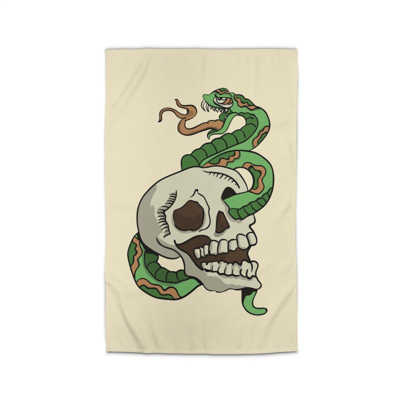 Snake 'n' Skull Home Rug by TenAnchors's Artist Shop