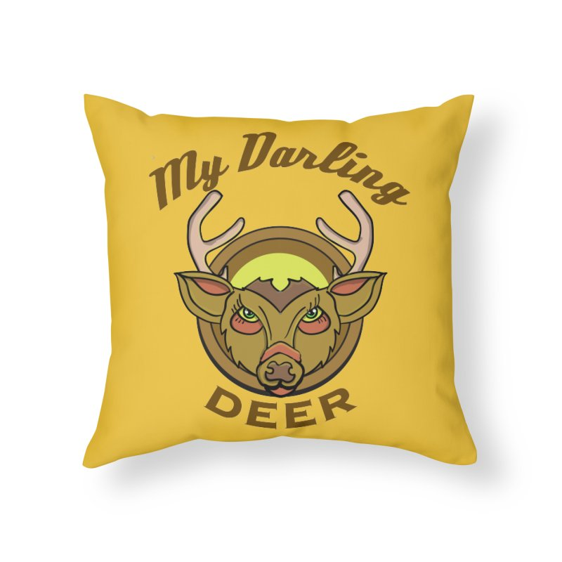 My Darling Deer Home Throw Pillow by TenAnchors's Artist Shop