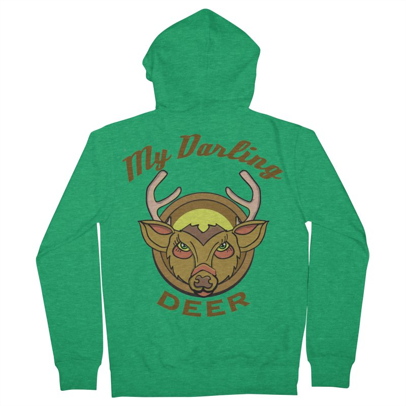My Darling Deer Men's Zip-Up Hoody by TenAnchors's Artist Shop