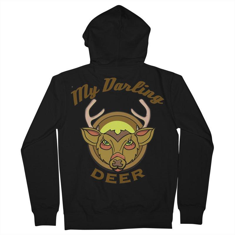 My Darling Deer Men's Zip-Up Hoody by TenAnchors's Artist Shop
