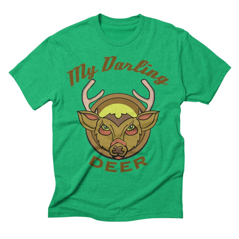 My Darling Deer Men's Triblend T-Shirt by TenAnchors's Artist Shop
