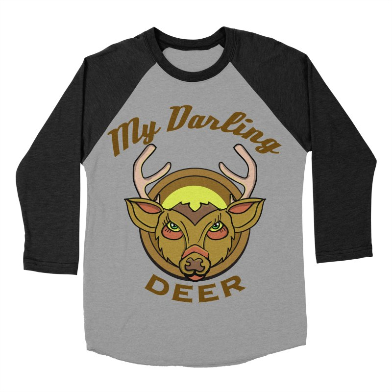 My Darling Deer Men's Baseball Triblend T-Shirt by TenAnchors's Artist Shop