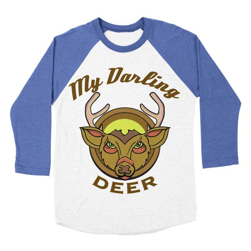 My Darling Deer Men's Baseball Triblend T-Shirt by TenAnchors's Artist Shop