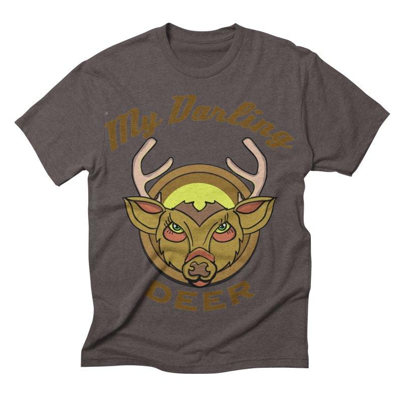 My Darling Deer Men's Triblend T-shirt by TenAnchors's Artist Shop