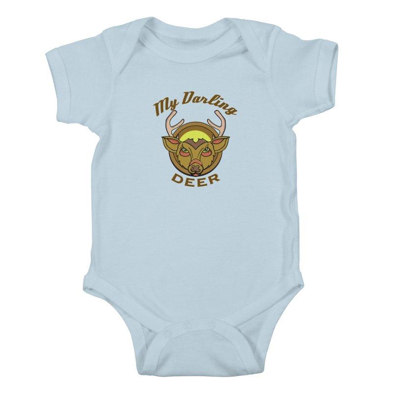My Darling Deer Kids Baby Bodysuit by TenAnchors's Artist Shop