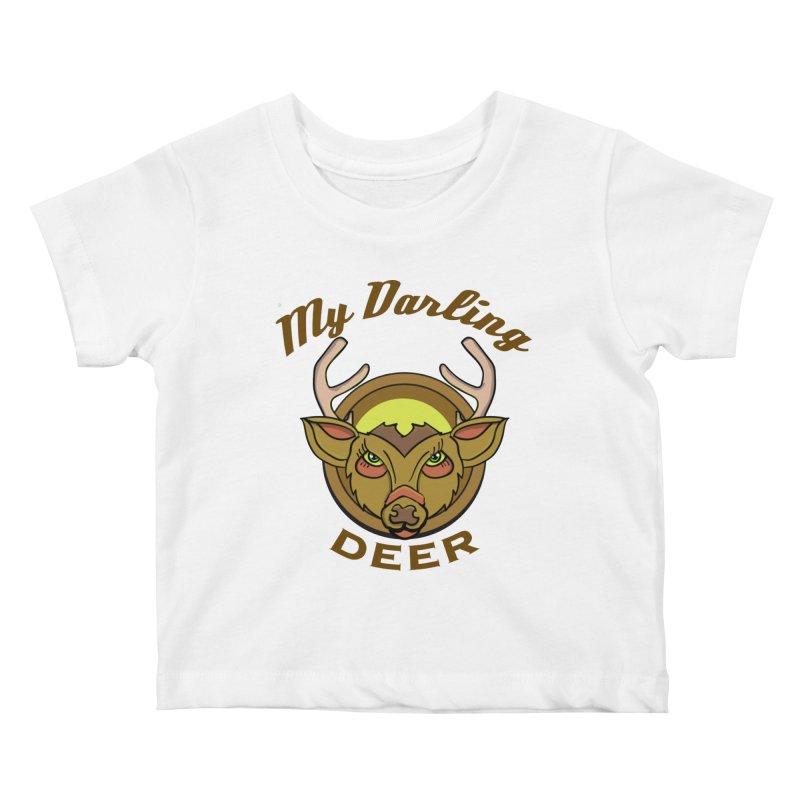 My Darling Deer Kids Baby T-Shirt by TenAnchors's Artist Shop