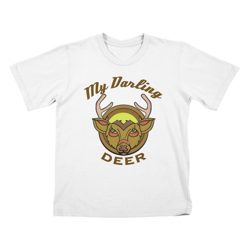 My Darling Deer Kids T-shirt by TenAnchors's Artist Shop