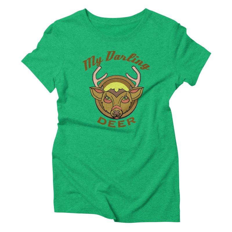 My Darling Deer Women's Triblend T-shirt by TenAnchors's Artist Shop