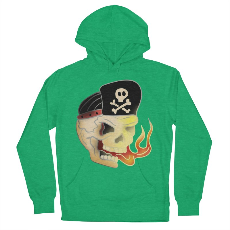 Skull Skate Punk Women's Pullover Hoody by TenAnchors's Artist Shop