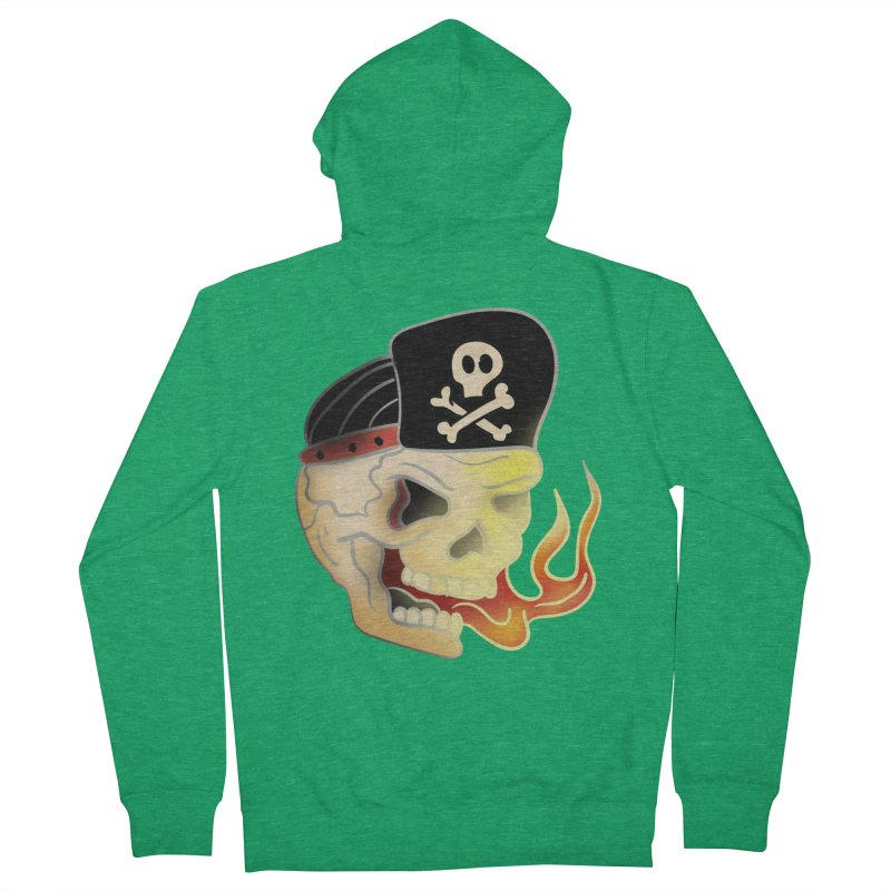 Skull Skate Punk Women's Zip-Up Hoody by TenAnchors's Artist Shop