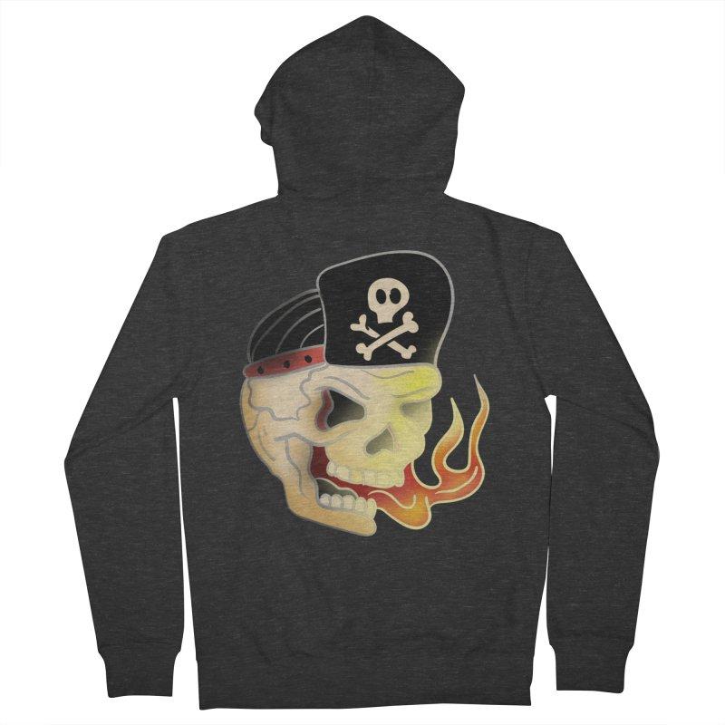 Skull Skate Punk Men's Zip-Up Hoody by TenAnchors's Artist Shop