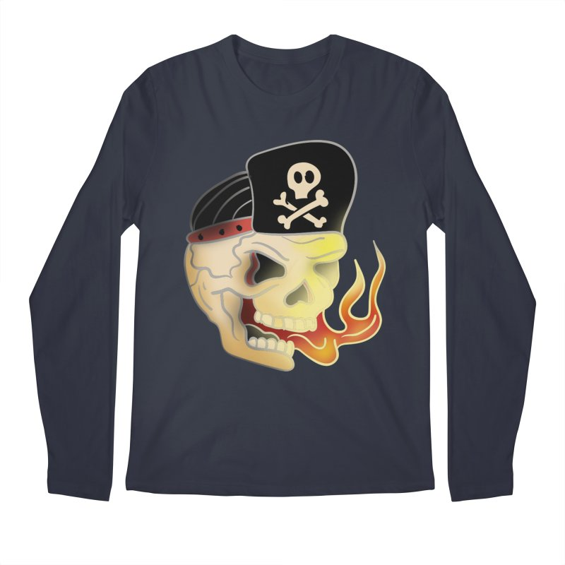 Skull Skate Punk Men's Longsleeve T-Shirt by TenAnchors's Artist Shop