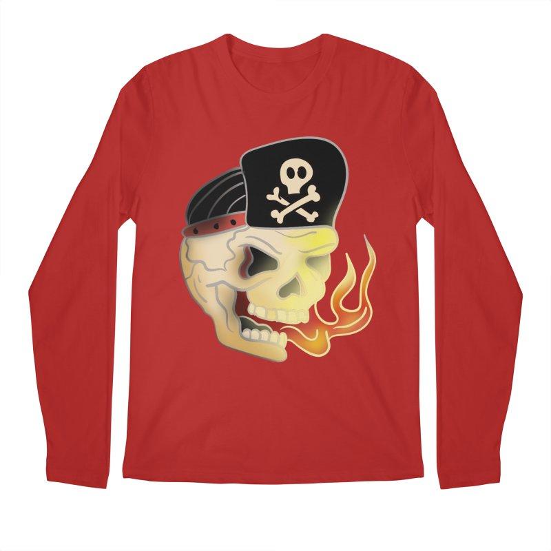 Skull Skate Punk Men's Longsleeve T-Shirt by TenAnchors's Artist Shop