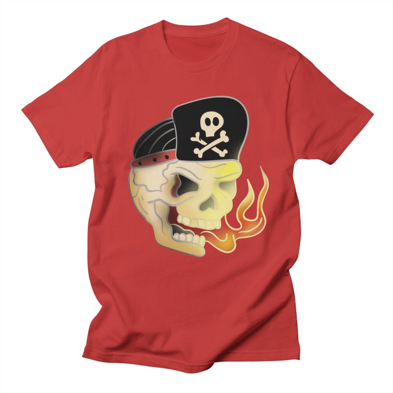 Skull Skate Punk Men's T-Shirt by TenAnchors's Artist Shop