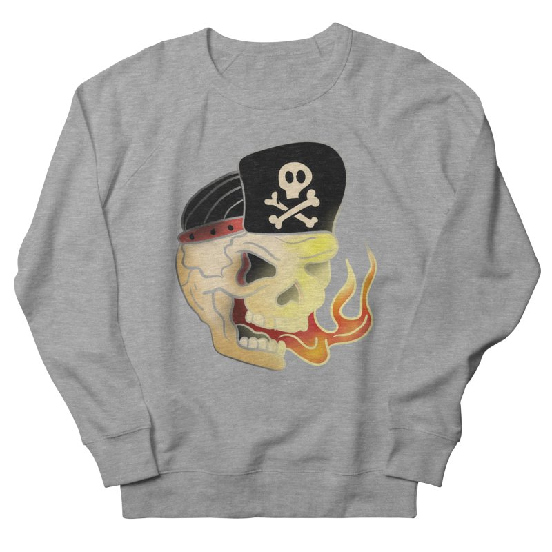 Skull Skate Punk Men's Sweatshirt by TenAnchors's Artist Shop