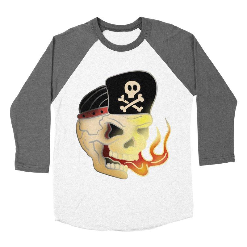 Skull Skate Punk Women's Baseball Triblend T-Shirt by TenAnchors's Artist Shop