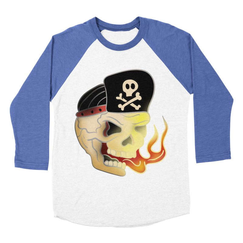 Skull Skate Punk Men's Baseball Triblend T-Shirt by TenAnchors's Artist Shop