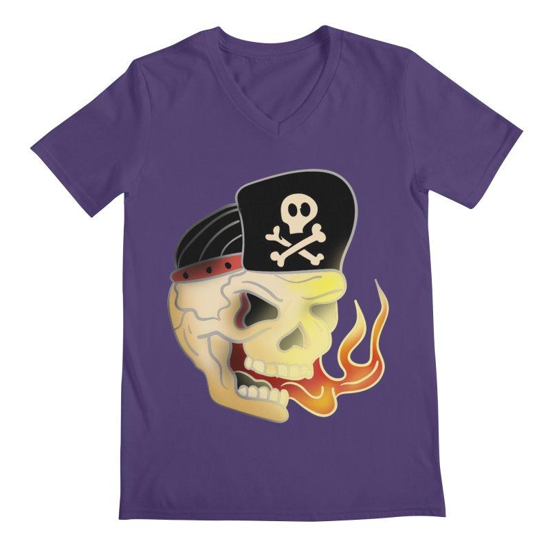 Skull Skate Punk Men's V-Neck by TenAnchors's Artist Shop