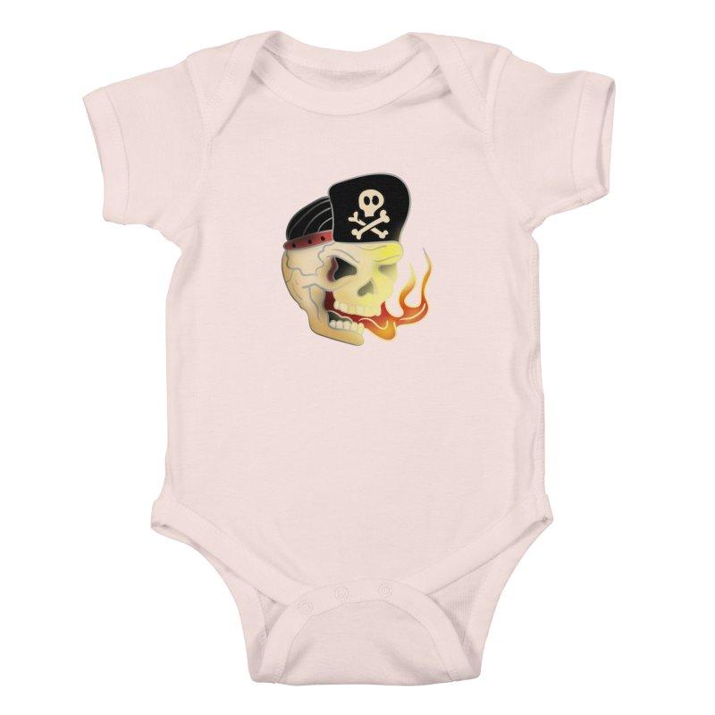 Skull Skate Punk Kids Baby Bodysuit by TenAnchors's Artist Shop